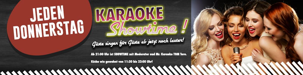 jeden Donnerstag - karaoke schowtime